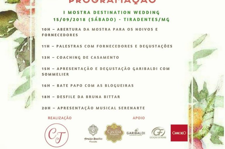 I Mostra Destination Wedding Tiradentes